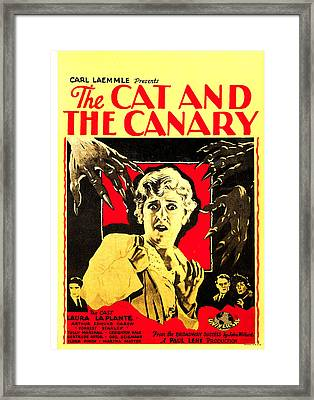 The Cat And The Canary, Center Laura La Framed Print by Everett