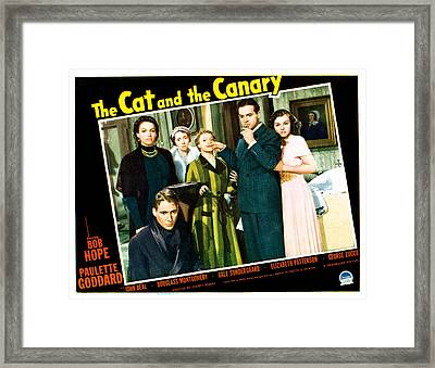 The Cat And The Canary, Front To Back Framed Print by Everett