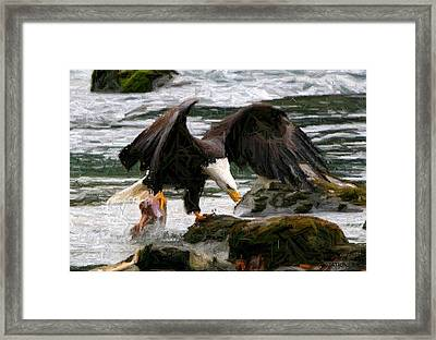 The Catch Framed Print by Carrie OBrien Sibley