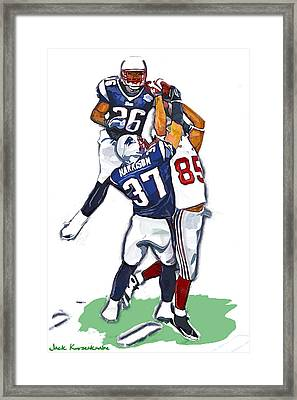 The Catch David  Tyree Framed Print by Jack K