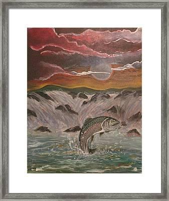 The Catch Framed Print by Shadrach Ensor