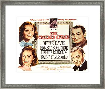 The Catered Affair, Top Bette Davis Framed Print