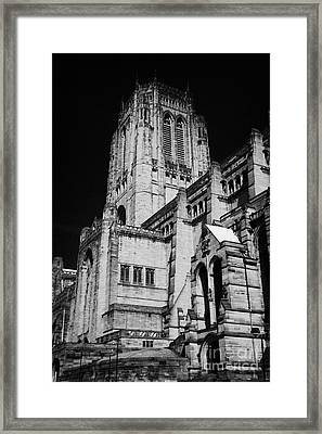 the Cathedral Church of Christ Liverpool Anglican Cathedral Merseyside England UK Framed Print by Joe Fox