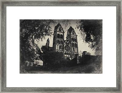 The Catholic Cathedral Of Limburg Framed Print by Natalia Kempin
