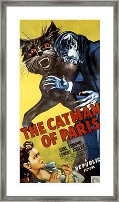The Catman Of Paris, 1946 Framed Print by Everett