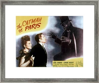 The Catman Of Paris, Lenore Aubert Framed Print by Everett