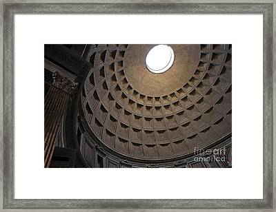 The Ceiling Of The Pantheon Framed Print by Chris Hill