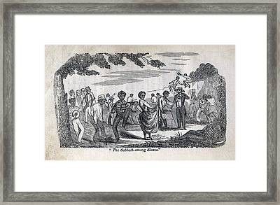 The Celebration Of The Sabbath Among Framed Print by Everett