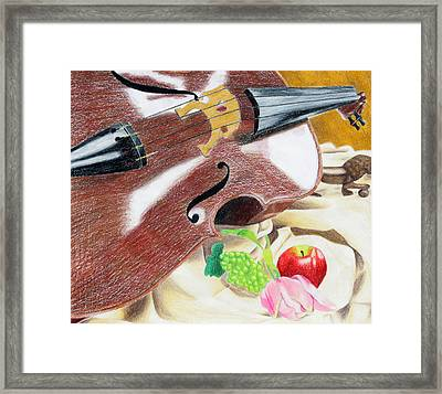 The Cello Framed Print by Kayla Nicole