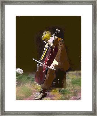 The Cello Player Framed Print