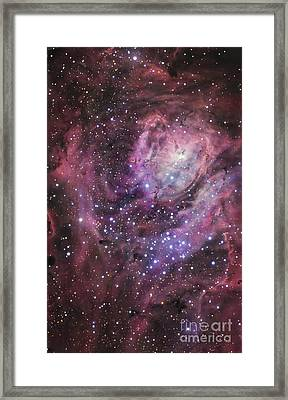 The Central Region Of The Lagoon Nebula Framed Print by R Jay GaBany