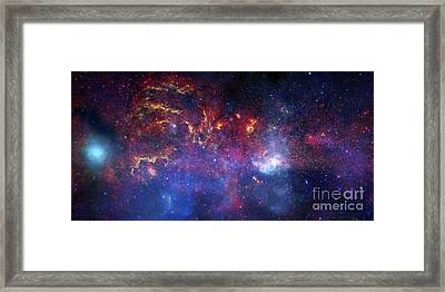 The Central Region Of The Milky Way Framed Print by Stocktrek Images