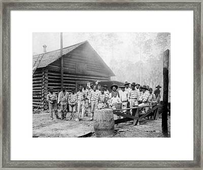 The Chain Gang, Southern Us, Ca. 1898 Framed Print