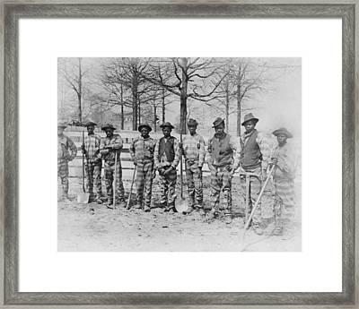 The Chain Gang, Thomasville, Georgia Framed Print by Everett