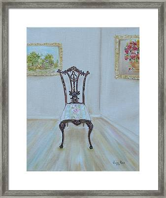 Framed Print featuring the painting The Chair by Judith Rhue