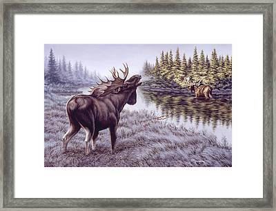 The Challenge Framed Print by Richard De Wolfe