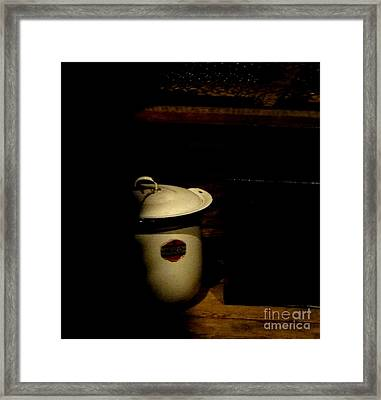 Framed Print featuring the photograph The Chamber Pot by Newel Hunter
