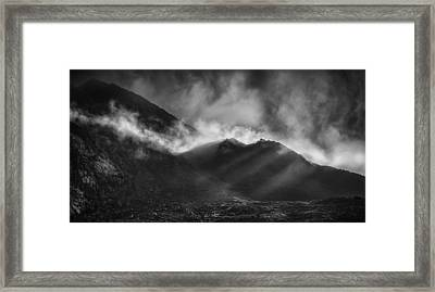 The Chancel In Black And White Framed Print