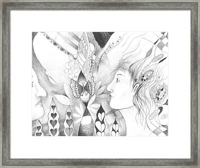 The Change And The Changing Framed Print by Helena Tiainen