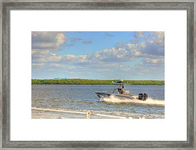 The Channel Framed Print by Barry R Jones Jr