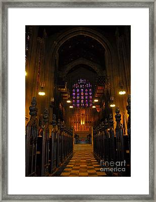 Framed Print featuring the photograph The Chapel At Valley Forge Park by Cindy Manero