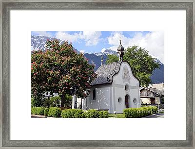 The Chapel In Alps Framed Print