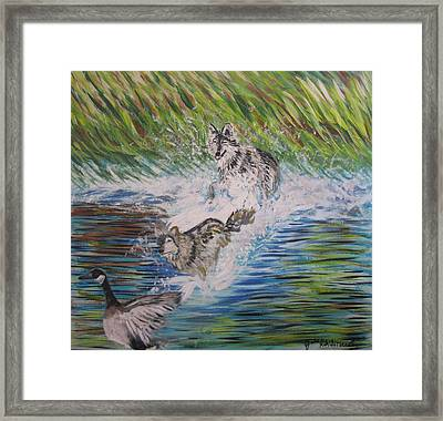 The Chase Framed Print by Julia Rita Theriault