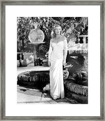 The Chase, Michele Morgan, 1946 Framed Print