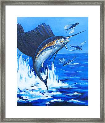 The Chase Framed Print by Sandra Camper