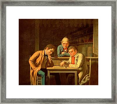 The Checker Players Framed Print by George Caleb Bingham