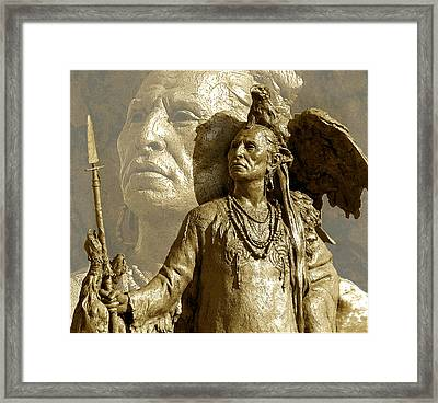 Framed Print featuring the photograph The Chief by Ginny Schmidt