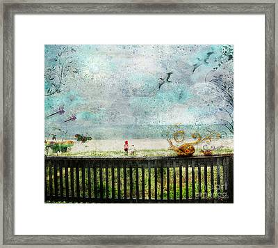 Framed Print featuring the digital art The Child In Us by Rhonda Strickland