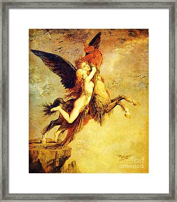 The Chimera Framed Print by Pg Reproductions
