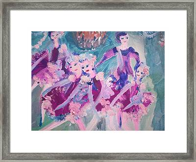 The Chocolate Chandelier Ballet Company Framed Print by Judith Desrosiers