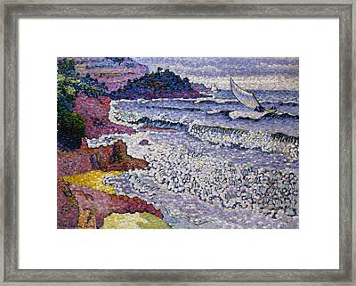 The Choppy Sea Framed Print by Henri-Edmond Cross