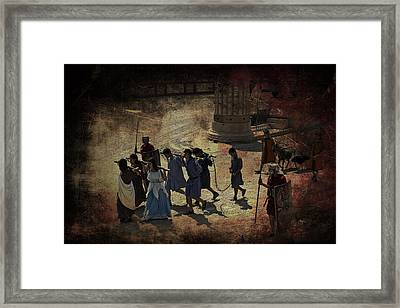 The Christians Framed Print by Wessel Woortman