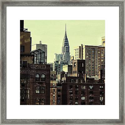 The Chrysler Bldg. - Ny Framed Print
