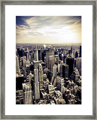 The Chrysler Building And Skyscrapers Of New York City Framed Print