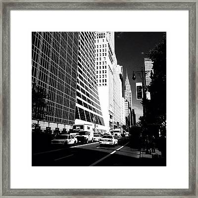 The Chrysler Building In New York City Framed Print