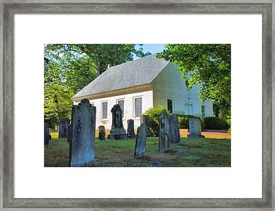 The Church Cemetery Framed Print