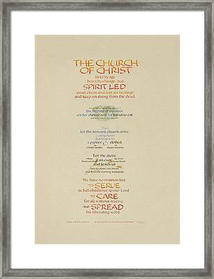 The Church Of Christ In Every Age I Framed Print by Judy Dodds