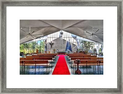The Church Of Natural Light Hdr Framed Print by Douglas Barnard