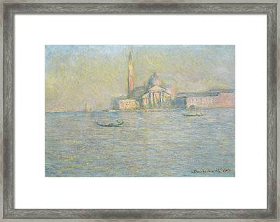 The Church Of San Giorgio Maggiore Venice Framed Print by Claude Monet