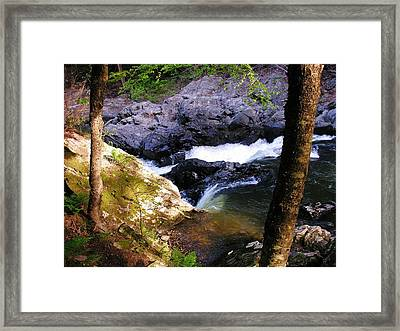 The Chutes At Union Village Framed Print by Sherman Perry