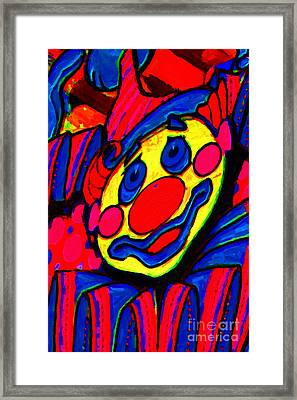 The Circus Circus Clown Framed Print by Wingsdomain Art and Photography