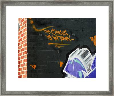 The Circus Framed Print by Lenore Senior