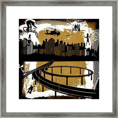 The City 2 Framed Print by Angelina Vick