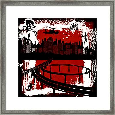 The City 3 Framed Print by Angelina Vick
