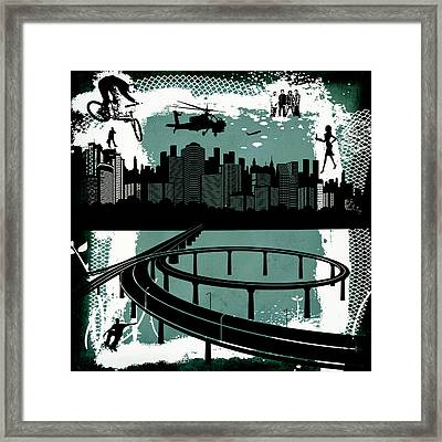 The City Framed Print by Angelina Vick