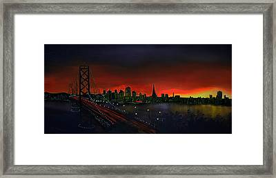 The City By The Bay Framed Print by Jamil Alkhoury